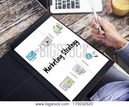 Online Strategy Media Marketing Icons