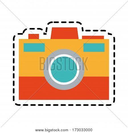 colorful photographic camera icon image vector illustration design