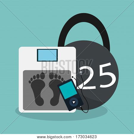 kettlebell and health and fitness related icons image vector illustration design