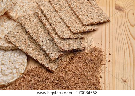 Different Kinds Of Products Made From Wheat, Expanded Wheat, Diet Crisp Breads And  Integral Flour O