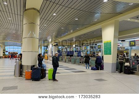 Domodedovo Intl Airport In Moscow, Russia