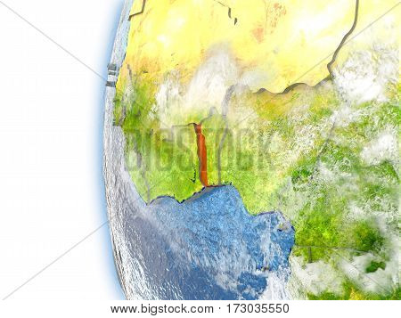 Togo On Model Of Earth