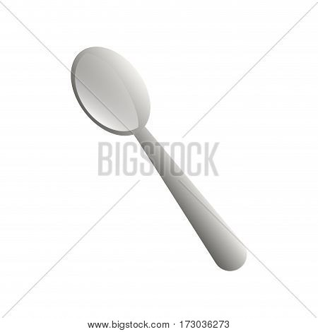 Kitchen stainless spoon icon vector illustration graphic design