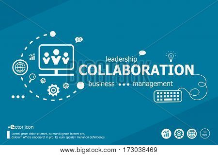 Collaboration Related Words And Marketing Concept.