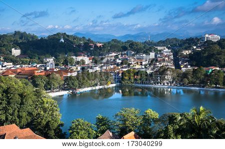 Word Heritage Kandy City in the Morning, Sri lanka