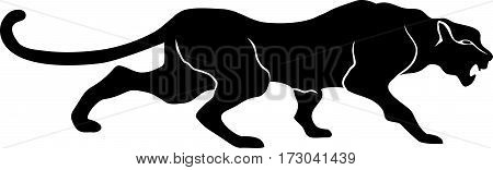 Panther, black, draw, cat, art, clip, drawing. tattoo style.