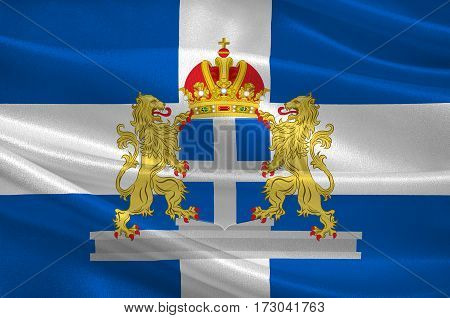 Flag of Flag of Zwolle is a municipality and the capital city of the province of Overijssel Netherlands. 3d illustration