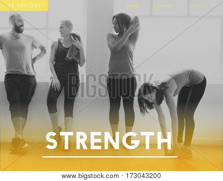 People Fitness  Strength Concept