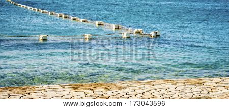 Network in sea water in the gulf of Hurghada Egypt