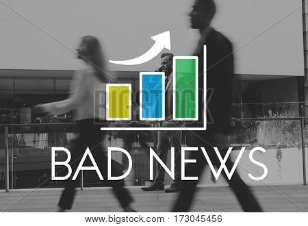 Bar Graph Business City Life Icon