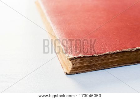 an old vintage book isolated on white background