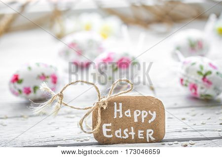 Easter Composition With Eggs