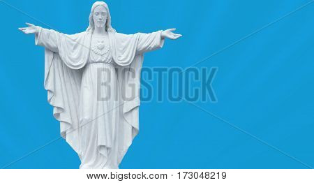 Statues of Sacred Heart of Jesus Concept of Religion