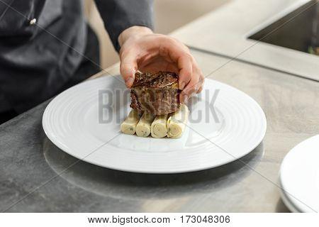 Chef Preparing Plate