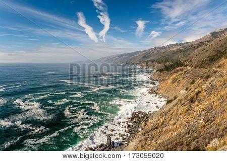 USA Pacific coast landscape, California.