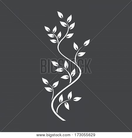 Natural ornamentation with ivy on dark background
