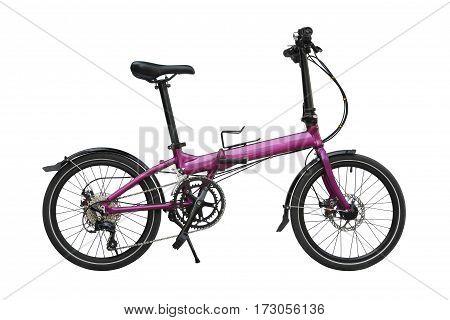 Folding bike isolated on a white background