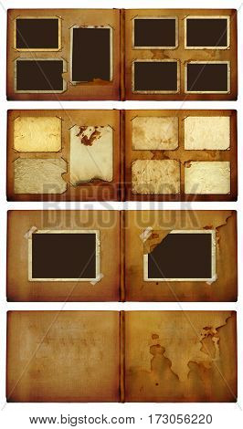 Vintage Photoalbum For Photos On  Isolated Background