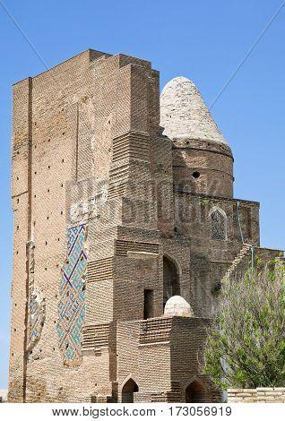 Ruins of the portal of Ak-Saray Palace, Shakhrisabz, Uzbekistan