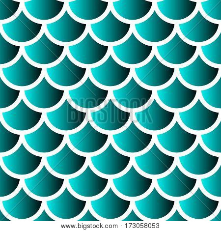 Japanese traditional ornament. Seamless pattern. Mermaid scales. Vector illustration.