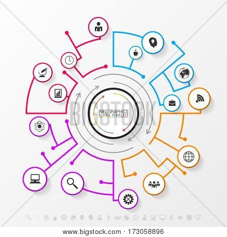Infographic network concept. Modern business template. Vector illustration
