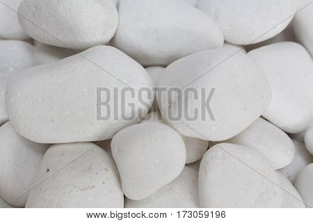 white pebble stones concept for horticulture and zen