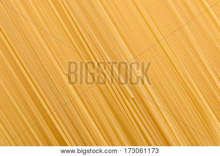 full frame of raw vermicelli italian pasta