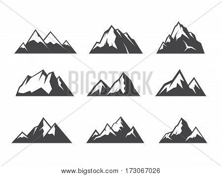 Vector design of Moutain graphic collection set