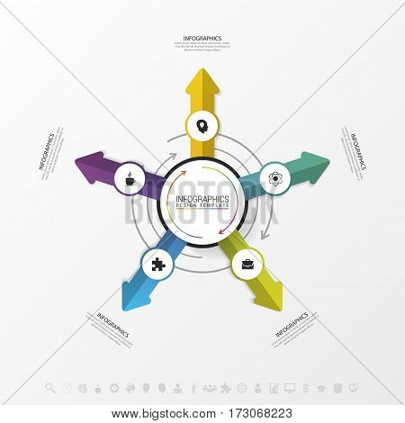 Template for cycling diagram graph presentation and round chart. Business concept. Vector illustration