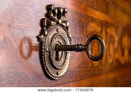 Old Key In Keyhole