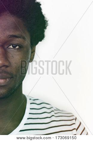 Adult Man Face Expression Portrait Studio