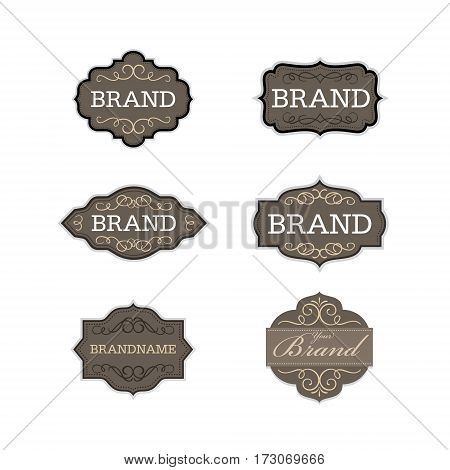 Vintage badge logo design template set l Brand identity collection l vector illustration