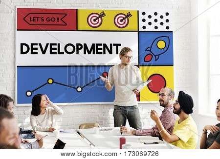 Development Research Strategy Success Word