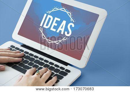 Imagine Think Big Innovate Ideas Word