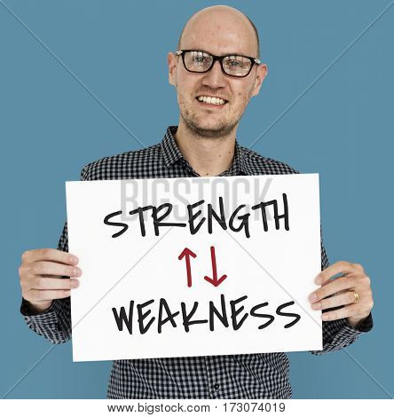 Strength Weakness Arrow Up Down Word