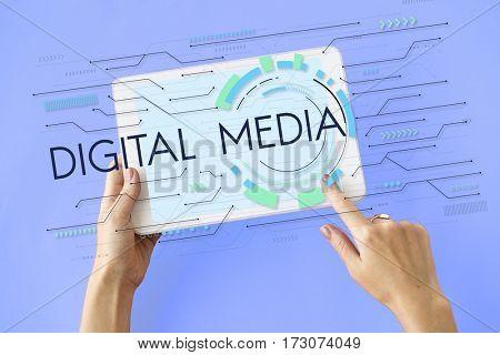 Digital Technology Multimedia Application Icon