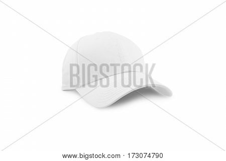 Colorful white fashion cap isolated on white background with clipping path.