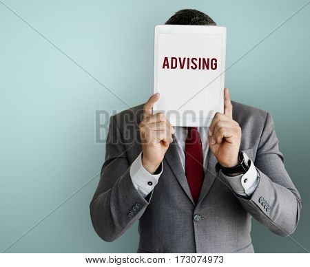 Advising overlay word young people