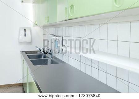 Empty Washing Room