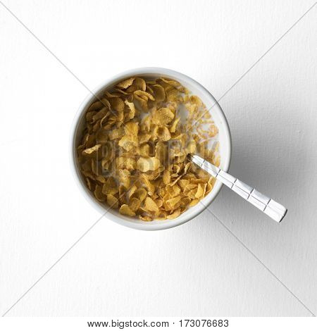 Cereal cornflake milk health breakfast