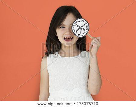 Little Girl Smiling Lollipop Shoot