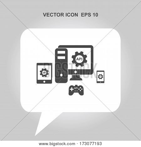 API application programming interface Icon, API application programming interface Icon Eps10, API application programming interface Icon Vector, API application programming interface Icon Eps