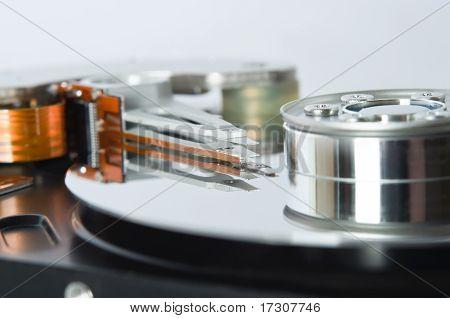 Open Hard Disk Mechanism