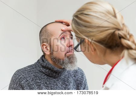 Examination Of An Eye