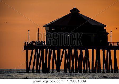 Pier At Hunrington Beach