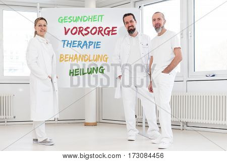 Medicine Workers In Front Of White Board