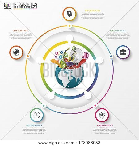 Circle infographic. Template for diagram graph presentation. Vector illustration
