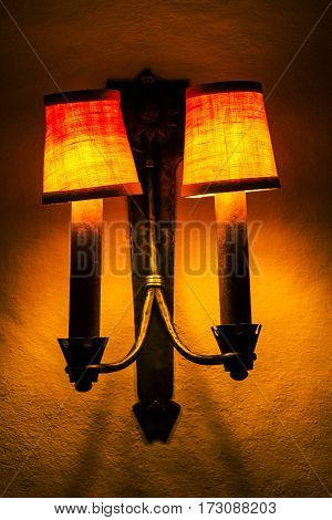Lamp In A Modern House In The American Southwest