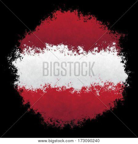 Color spray stylized flag of Latvia on black background