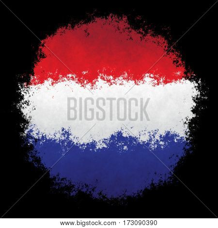 Color spray stylized flag of Luxembourg on black background